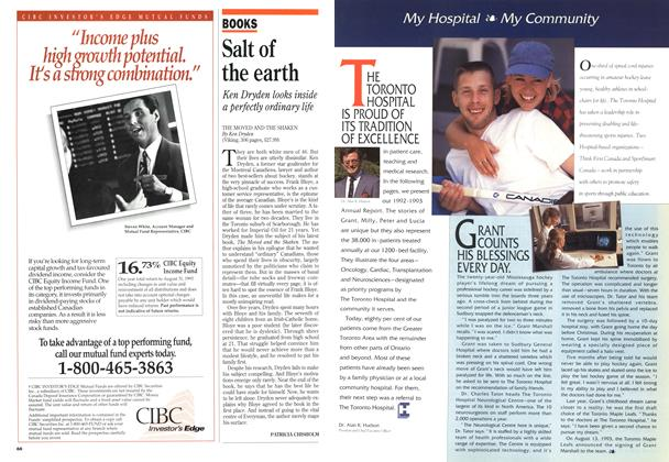 Article Preview: Salt of the earth, September 1993 | Maclean's