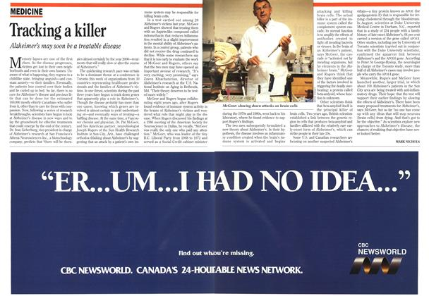 Article Preview: Tracking a killer, September 1993 | Maclean's