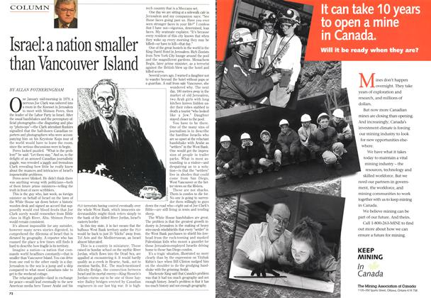 Article Preview: Israel: a nation smaller than Vancouver Island, September 1993 | Maclean's