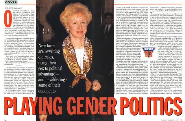 Article Preview: PLAYING GENDER POLITICS, October 1993 | Maclean's