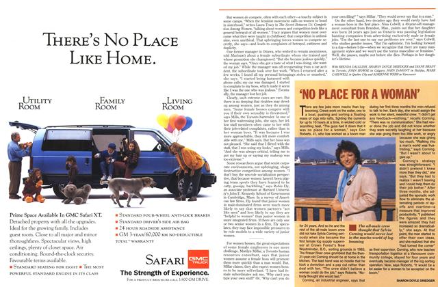 Article Preview: 'NO PLACE FOR A WOMAN', October 1993 | Maclean's