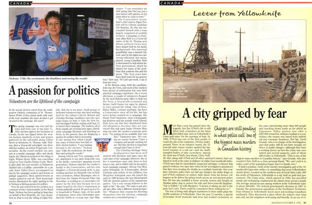 Article Preview: A city gripped by fear, October 1993 | Maclean's
