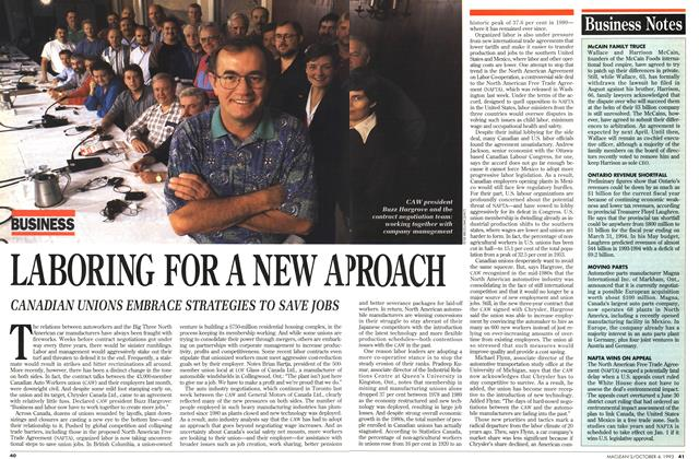 Article Preview: LABORING FOR A NEW APROACH, October 1993 | Maclean's