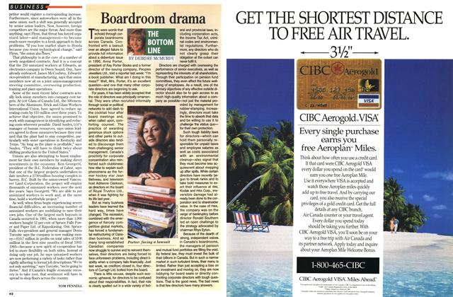 Article Preview: Boardroom drama, October 1993 | Maclean's
