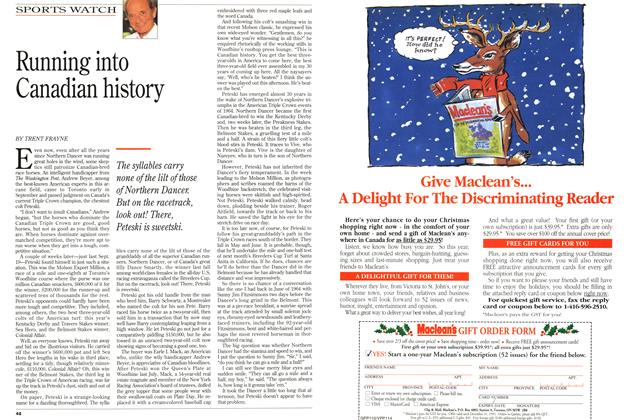 Article Preview: Running into Canadian history, October 1993 | Maclean's