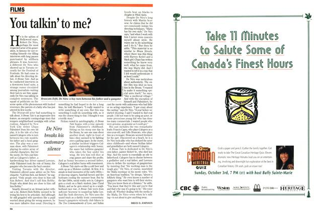 Article Preview: You talkin' to me?, October 1993 | Maclean's