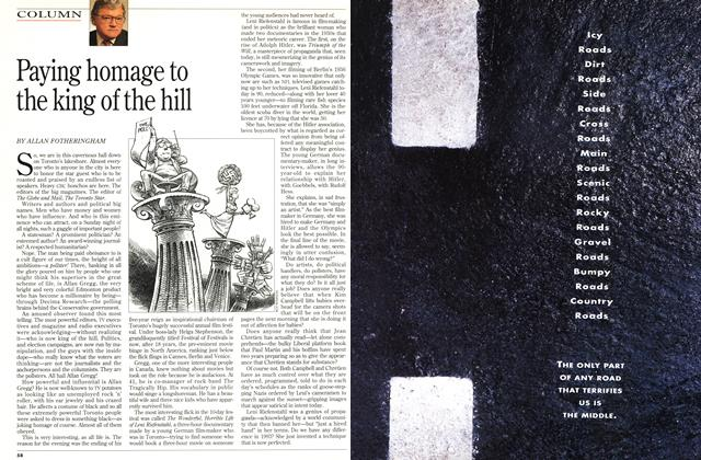 Article Preview: Paying homage to the king of the hill, October 1993   Maclean's