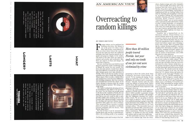 Article Preview: Overreacting to random killings, October 1993 | Maclean's