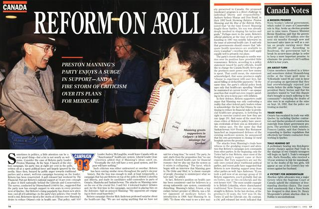 Article Preview: REFORM ON A ROLE, October 1993 | Maclean's