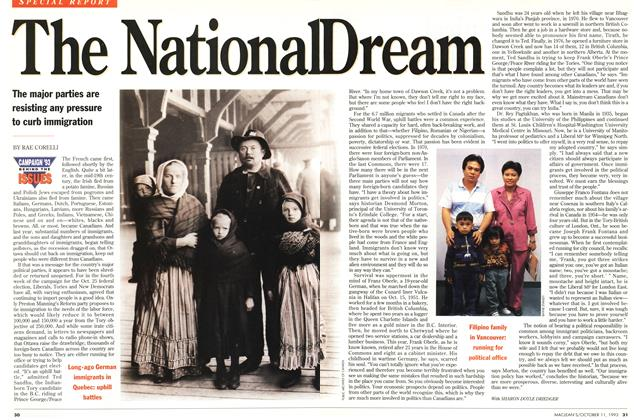 Article Preview: The National Dream, October 1993 | Maclean's