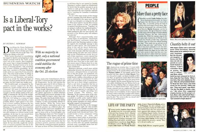 Article Preview: Is a Liberal-Tory pact in the works?, October 1993   Maclean's