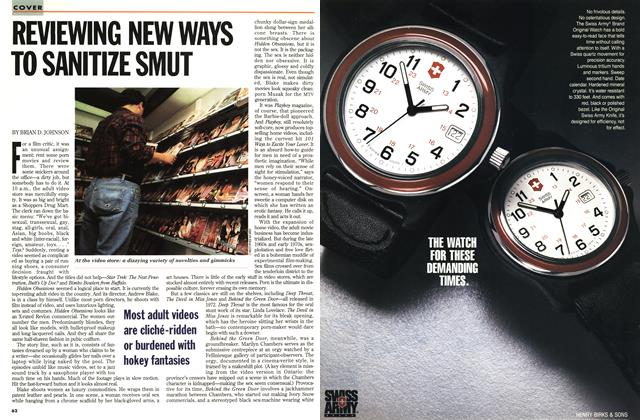 Article Preview: REVIEWING NEW WAYS TO SANITIZE SMUT, October 1993 | Maclean's
