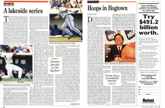 Article Preview: Hoops in Hogtown, October 1993 | Maclean's
