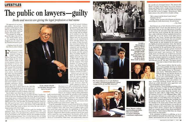 Article Preview: The public on lawyers—guilty, October 1993 | Maclean's