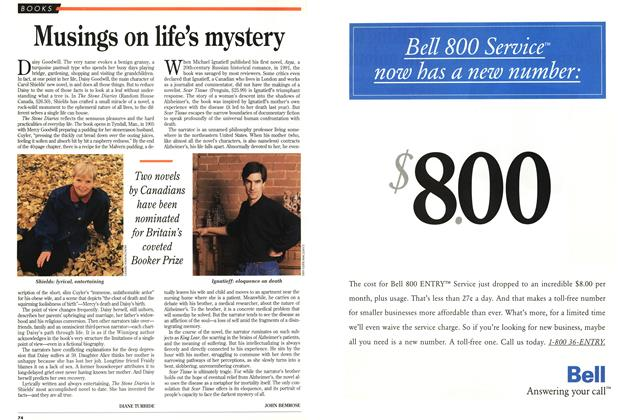 Article Preview: Musings on life's mystery, October 1993 | Maclean's