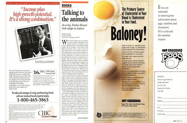 Article Preview: Talking to the animals, October 1993 | Maclean's