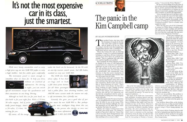Article Preview: The panic in the Kim Campbell camp, October 1993 | Maclean's