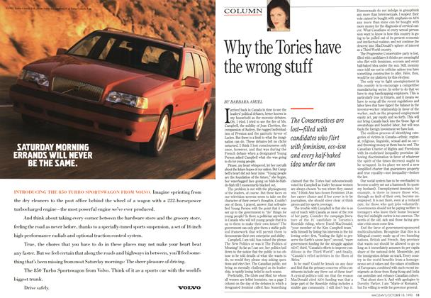 Article Preview: Why the Tories have the wrong stuff, OCTOMBER 18, 1993 1993 | Maclean's