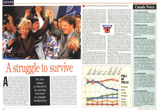 Article Preview: A srtuggle to survive, OCTOMBER 18, 1993 1993 | Maclean's
