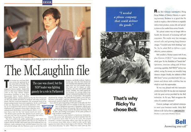Article Preview: The McLaughlin file, OCTOMBER 18, 1993 1993 | Maclean's