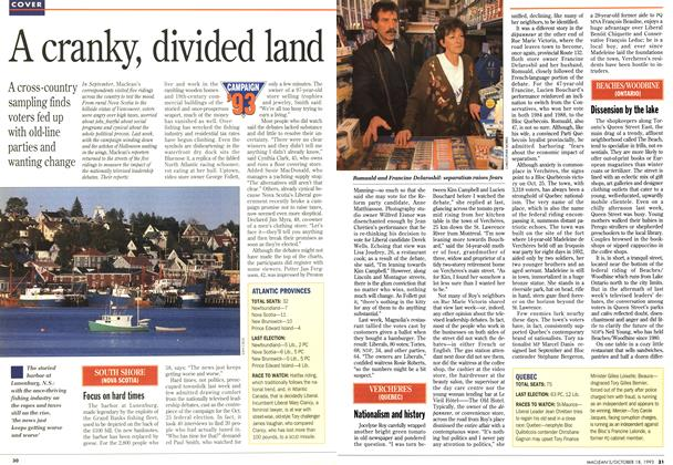 Article Preview: A cranky, divided land, OCTOMBER 18, 1993 1993 | Maclean's
