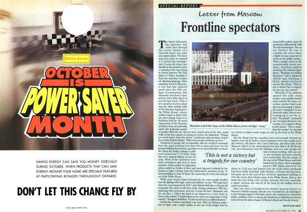 Article Preview: Frontline spectators, OCTOMBER 18, 1993 1993 | Maclean's