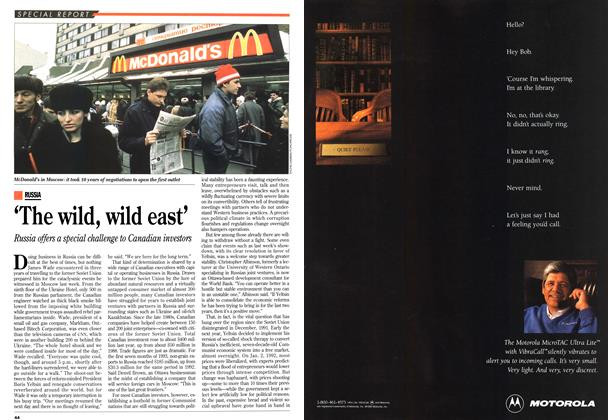 Article Preview: 'The wild, wild east', OCTOMBER 18, 1993 1993 | Maclean's