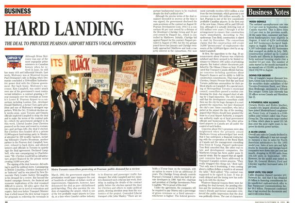 Article Preview: HARD LANDING, OCTOMBER 18, 1993 1993 | Maclean's