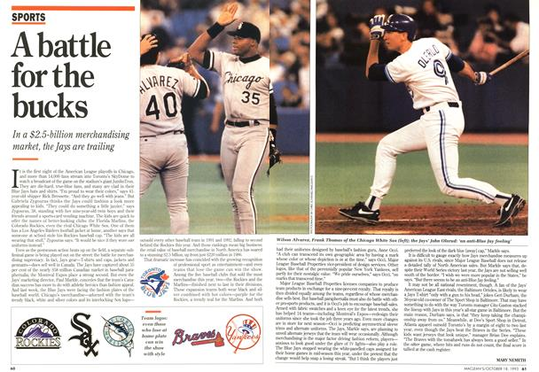 Article Preview: A battle for the bucks, OCTOMBER 18, 1993 1993 | Maclean's