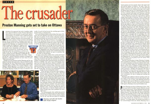 Article Preview: The crusader, October 1993 | Maclean's