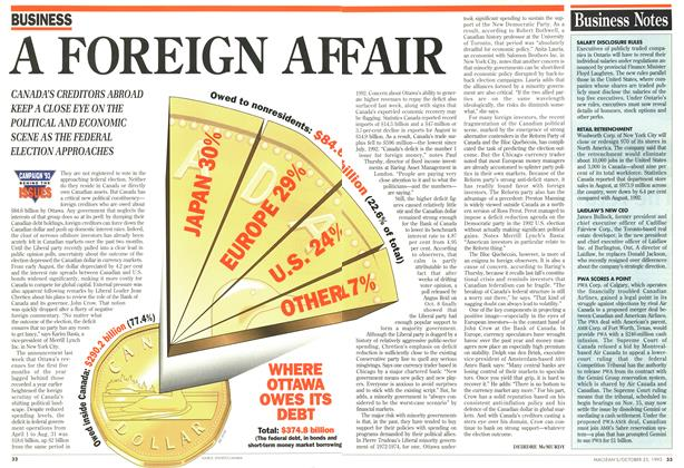 Article Preview: A FOREIGN AFFAIR, October 1993 | Maclean's