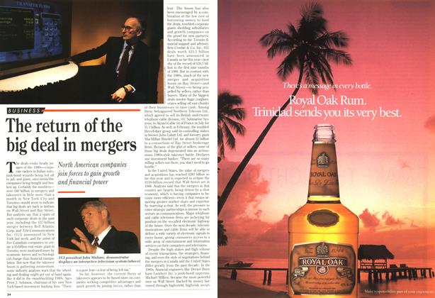 Article Preview: The return of the big deal in mergers, October 1993 | Maclean's