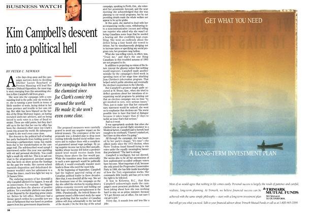 Article Preview: Kim Campbell's descent into a political hell, October 1993 | Maclean's