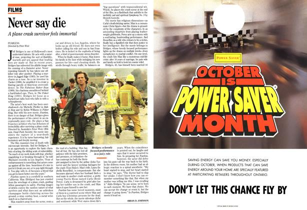 Article Preview: Never say die, October 1993 | Maclean's