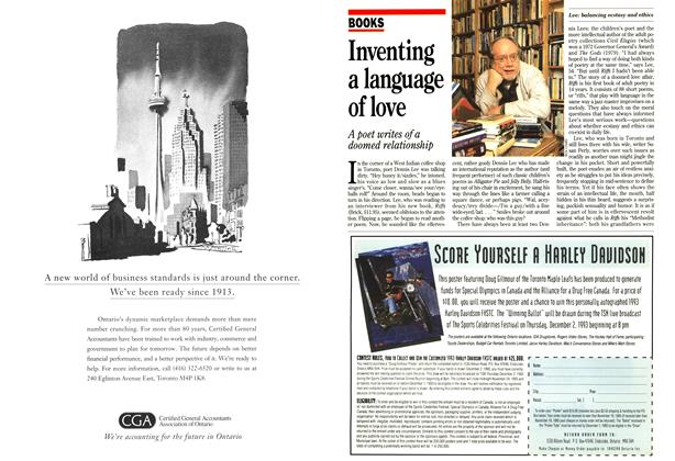 Article Preview: Inventing a language of love, October 1993 | Maclean's