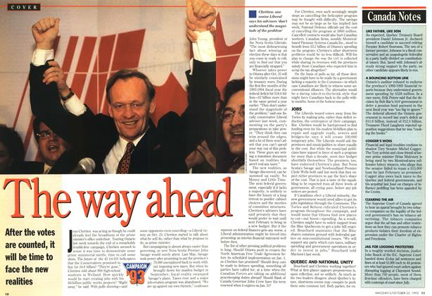 Article Preview: The way ahead, October 1993 | Maclean's