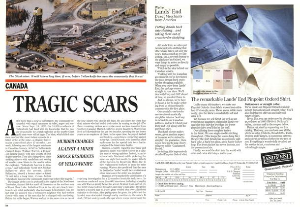 Article Preview: TRAGIC SCARS, November 1993   Maclean's