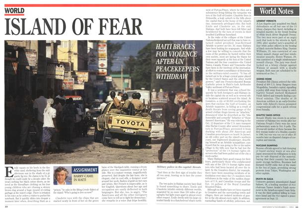 Article Preview: ISLAND OF FEAR, November 1993 | Maclean's