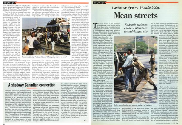 Article Preview: Mean streets, November 1993 | Maclean's