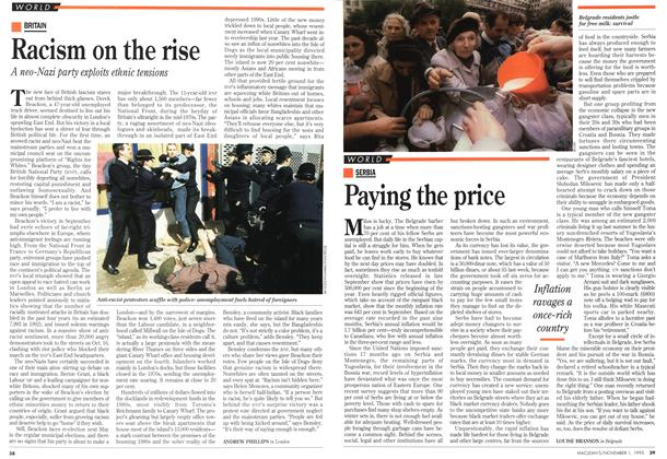 Article Preview: Racism on the rise, November 1993 | Maclean's