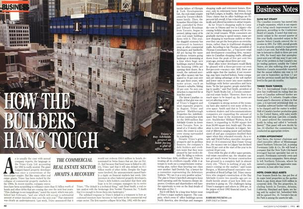 Article Preview: HOW THE BUILDERS HANG TOUGH, November 1993 | Maclean's