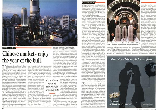 Article Preview: Chinese markets enjoy the year of the bull, November 1993 | Maclean's