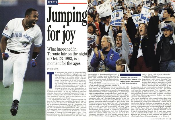 Article Preview: Jumping for joy, November 1993 | Maclean's