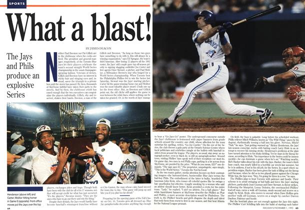 Article Preview: What a blast!, November 1993 | Maclean's