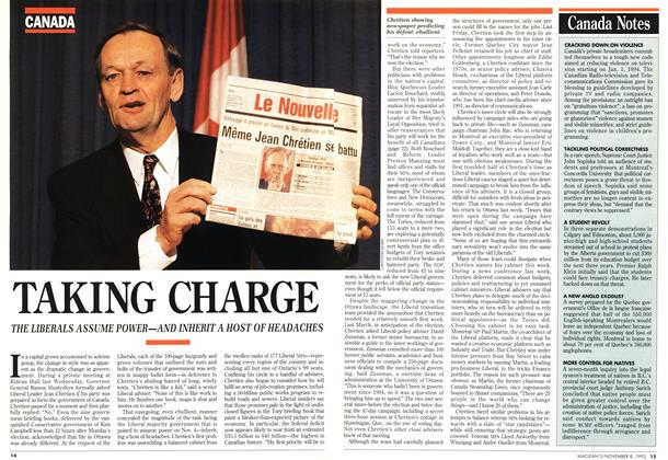 Article Preview: TAKING CHARGE, November 1993 | Maclean's