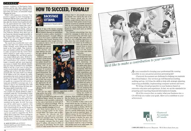 Article Preview: HOW TO SUCCEED, FRUGALLY, November 1993 | Maclean's