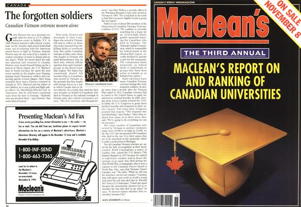 Article Preview: The forgotten soldiers, November 1993 | Maclean's