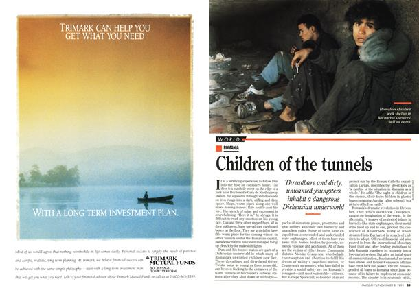 Article Preview: Children of the tunnels, November 1993 | Maclean's