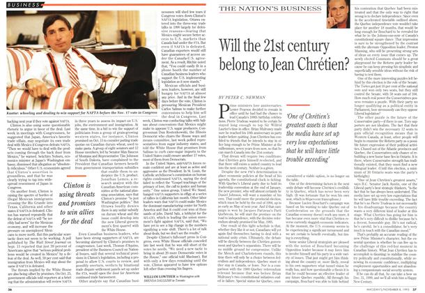 Article Preview: Will the 21st century belong to Jean Chrétien?, November 1993 | Maclean's