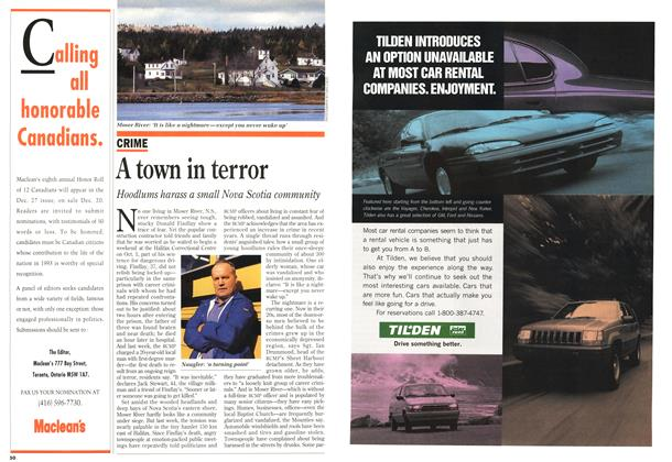 Article Preview: A town in terror, November 1993 | Maclean's